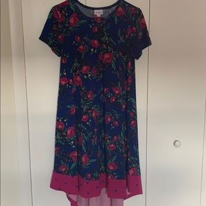 LulaRoe Floral Dipped Carly XS